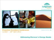 Longreach Oil & Gas One2One Investor Presentation - Proactive ...
