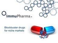 ImmuPharma One2One Investor Presentation - Proactive Investors