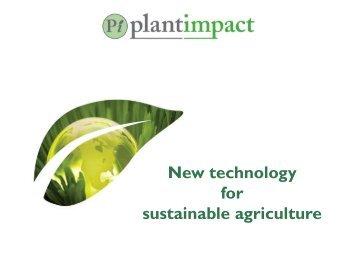 Plant Impact One2One Forum Presentation (PDF) - Proactive Investors