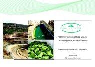 European Nickel One2One Investor Presentation 8 April 10