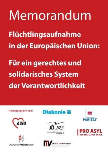 Memorandum Flüchtlingsaufnahme in der Europäischen ... - Pro Asyl