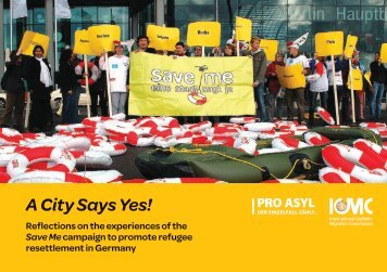 Save Me – A City Says Yes - Pro Asyl