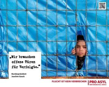 """""""Wir brauchen offene Türen für Verfolgte"""" (PDF, 674 KB) - Pro Asyl"""
