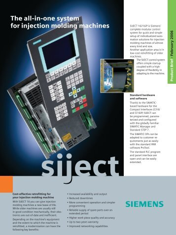 The all-in-one system for injection molding machines