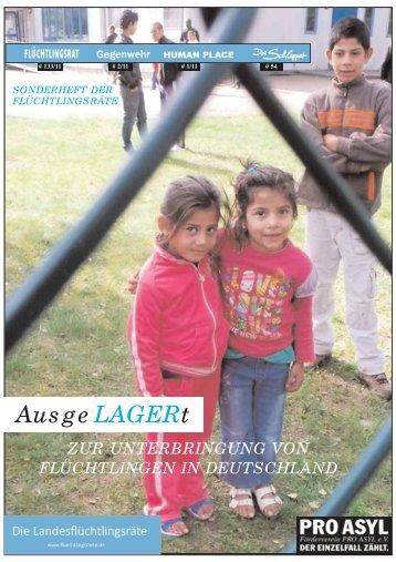 """Broschüre """"AusgeLAGERt"""" - Pro Asyl"""