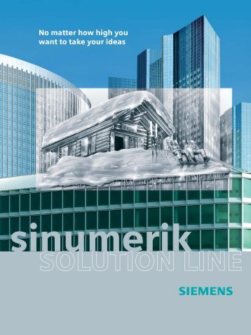 SINUMERIK Solution Line - Siemens Industry, Inc.