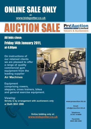 Sale Catalogue - Pro Auction