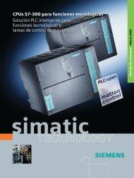 CPUs S7-300 para funciones tecnológicas - Solución PLC ...