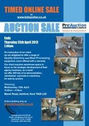 TIMED ONLINE SALE - Pro Auction