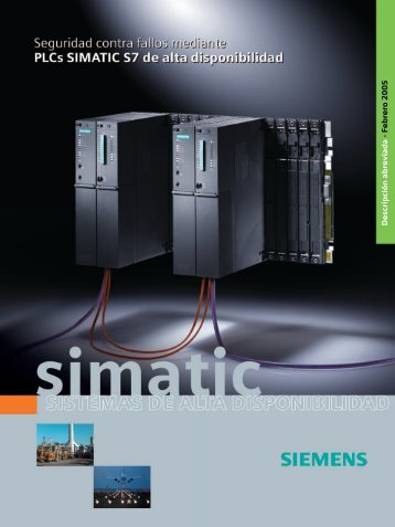 SIMATIC - Sistemas de alta disponibilidad - Seguridad contra fallos ...