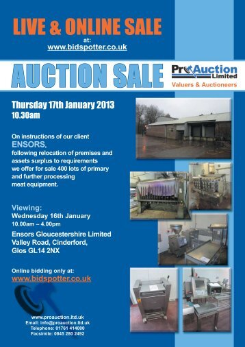 LIVE & ONLINE SALE - Pro Auction