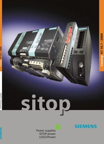 Power supplies SITOP power LOGO!Power Catalog K T 10.1 2004