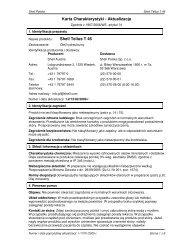 Karta Charakterystyki - Aktualizacja Shell Tellus T 46 - Proauto
