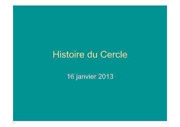Histoire du Cercle