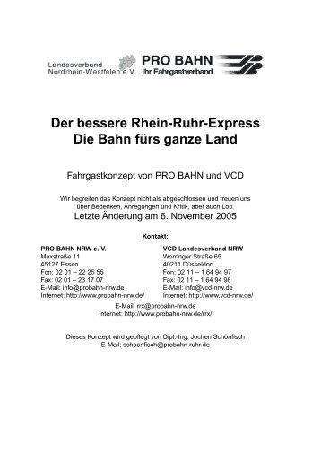 3 Strecke, Linien und Takte - PRO BAHN NRW eV