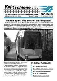 Ruhrschiene 2011#1 - Pro Bahn NRW