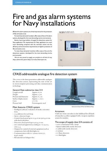 Fire and gas alarm systems for Navy installations - Consilium