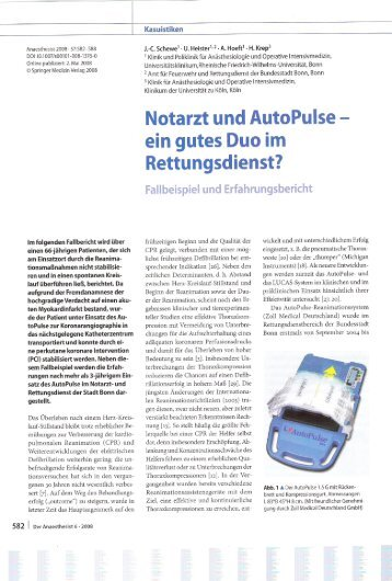 Notarzt und AutoPulse