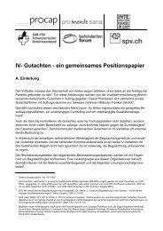 Positionspapier IV-Gutachten - Schweizer Paraplegiker-Vereinigung