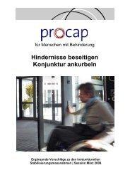 Eingabe Konjunkturprogramm als pdf - Procap
