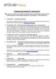 Programme des activités pour le 2e semestre 2013 (PDF) - Procap