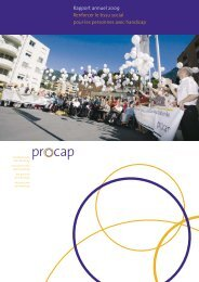 Rapport annuel 2009 Renforcer le tissu social pour les ... - Procap