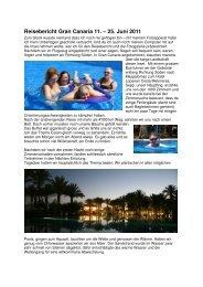 Reisebericht Gran Canaria 11. – 25. Juni 2011 - Procap