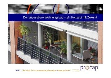 Der anpassbare Wohnungsbau – ein Konzept mit Zukunft - Procap