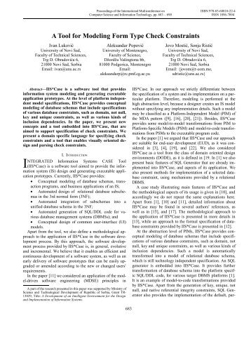 A Tool for Modeling Form Type Check Constraints - Proceedings of ...