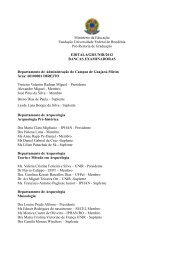 Segunda lista de bancas examinadoras - Unir