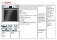 Bosch HBG63B450F FOUR PYRO PORTE FROIDE INOX ... - PROCie