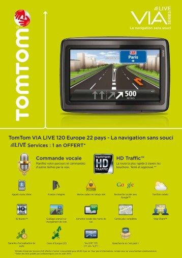 Gamme TomTom Via LIVE - La navigation sans souci
