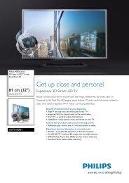 32PFL4508H/12 Philips 3D Smart LED TV with Pixel Plus ... - PROCie