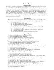 Position Paper Topic Selection - ProCon.org