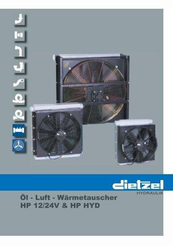 HP 12/24V & HP HYD Öl - Luft - Wärmetauscher - Dietzel Hydraulik