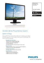225B2CB/00 Philips LCD-skærm med PowerSensor - PROconsult ...
