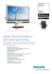 235PL2ES/00 Philips LED-skærm med PowerSensor - PROconsult ...