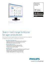 19S1SS/00 Philips LCD-skærm med SmartImage - PROconsult Data ...