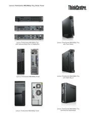 Lenovo ThinkCentre M92/M92p Tiny, Small, Tower - PROconsult ...