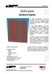 5GDP5 kijelző - Procontrol Electronics Kft.