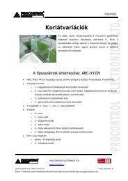 Korlátok - Procontrol Electronics Kft.