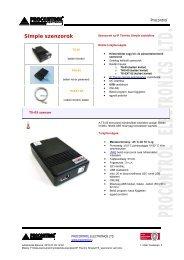 TS Sensors - Procontrol Electronics Kft.