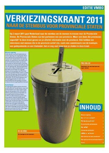 Onderwijskrant Provinciale Staten (editie vmbo) - Prodemos