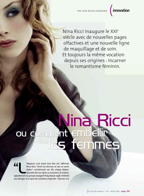 Ricci Femmes Ou Prodimarques Embellir Nina Les Comment 80kOnPw