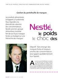 Nestlé, le poids du marché, le choc des marques - Prodimarques