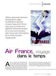 Air France, voyage dans le temps - Prodimarques
