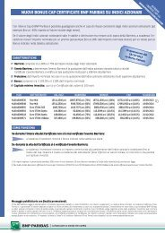 nuovi bonus cap certificate bnp paribas su indici ... - Prodottidiborsa