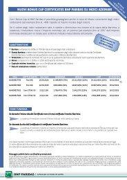 nuovi bonus cap certificates bnp paribas su indici ... - Prodottidiborsa