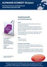 INSOLVENZRECHT und Anfechtungsrecht 2009 - Alpmann Schmidt