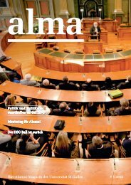 Alma 1 / 2012 - HSG Alumni - Universität St.Gallen